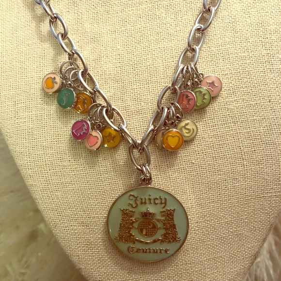 404050e60681a Vintage Juicy Couture Charm Logo Silver Necklace